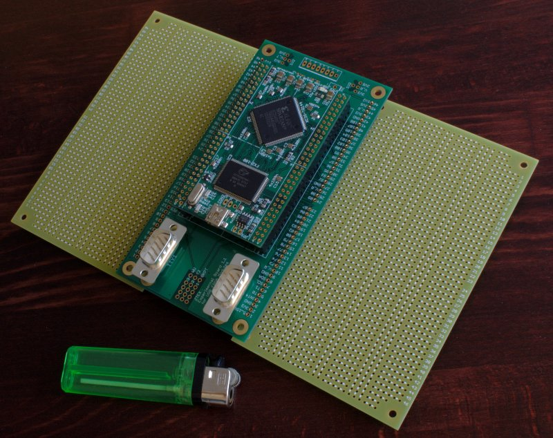 USB-FPGA Module 1.2 with Experimental Board and two Extension Boards