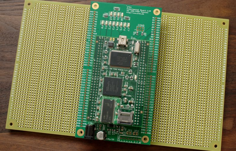 Spartan 6 USB-FPGA Module 1.11 with Analog Experimental Board and two Expansion Boards