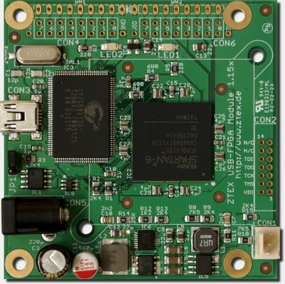FPGA Cluster Board 1.15x with Spartan 6 XC6SLX150 for cryptographic computations