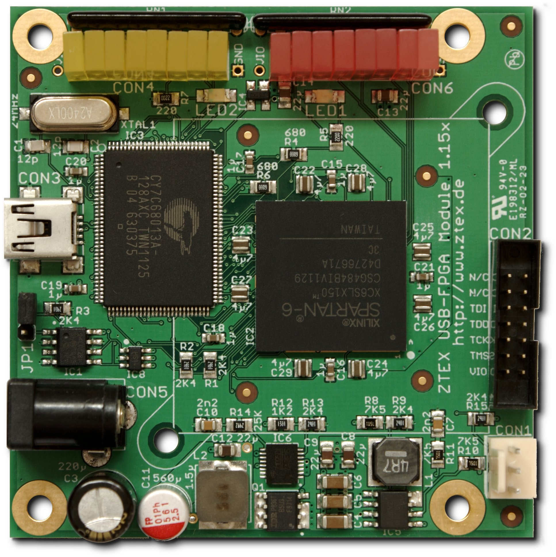 USB-FPGA Module 1 15x: Spartan 6 LX150 FPGA Board with USB 2 0