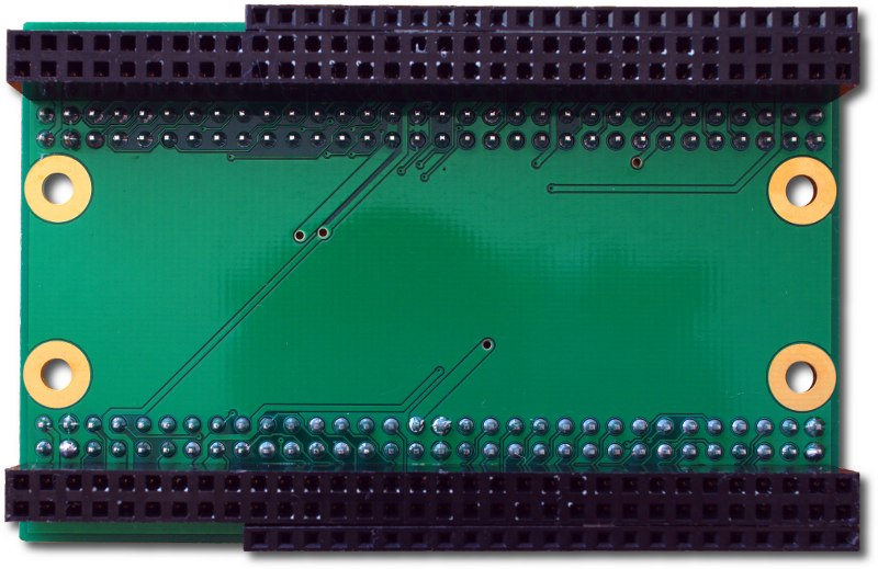 Series 1 Adapter for ZTEX Series 2 FPGA Boards, bottom side of variant with female pin headers