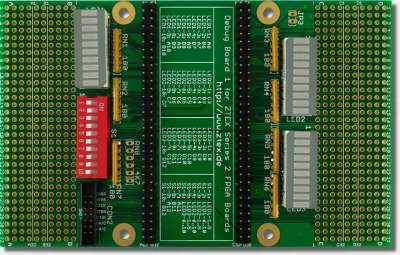 Debug Board for ZTEX Series 2 FPGA Boards
