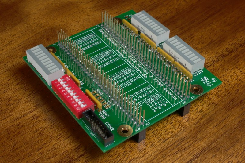 Debug Board for ZTEX Series 2 FPGA Boards, variant with stackable pin headers