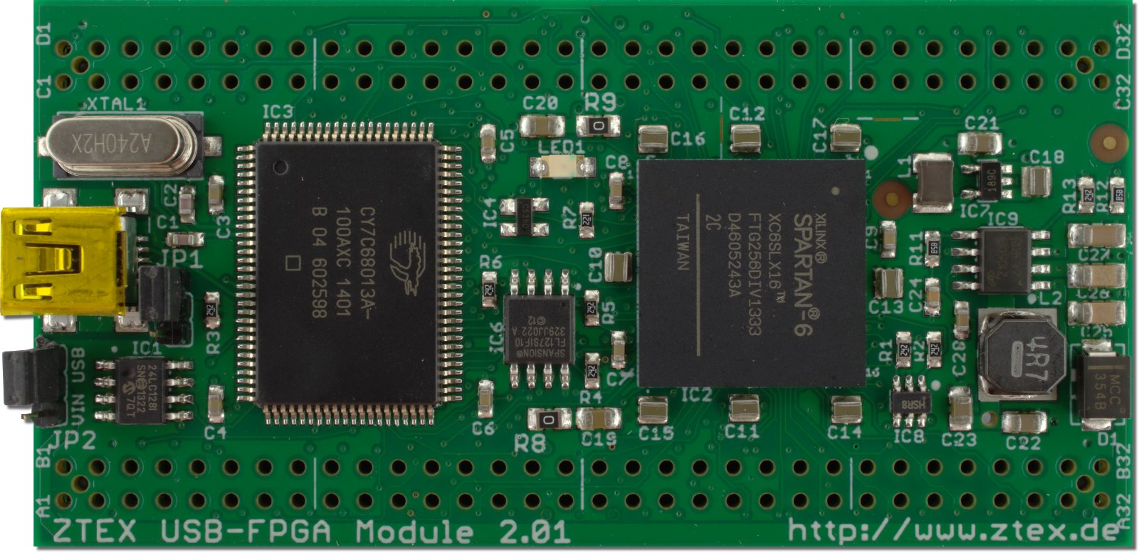 ZTEX FPGA Boards with USB and Open Source SDK