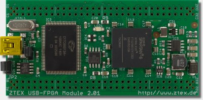 ZTEX FPGA Board with Spartan 6 FPGA and USB 2.0