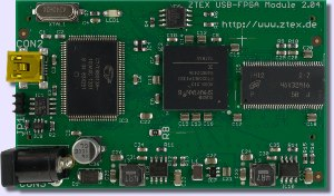 Spartan 6 LX16 FPGA Board with RAM and USB