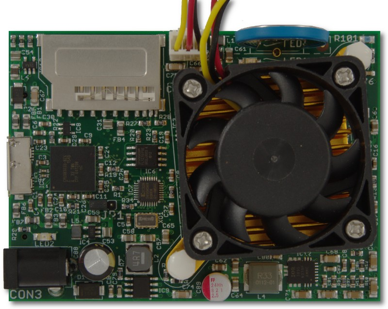 ZTEX FPGA Board with Artix 7 XC7A200T and active cooler